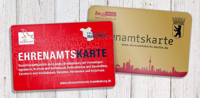 Ehrenamtskarten Berlin und Brandenburg